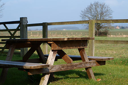 Garden Furniture with Views of the Yorkshire Wolds